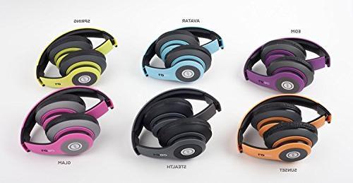 iJoy Matte Finish Premium Rechargeable Wireless Headphones Bluetooth Over Headphones Headset with Mic