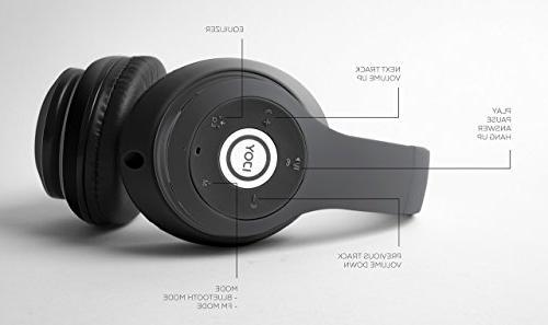 iJoy Matte Rechargeable Wireless Headphones Bluetooth Over