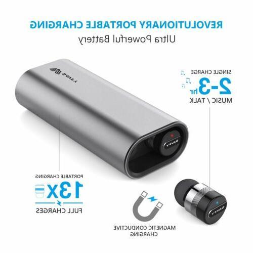 Mini True Wireless Bluetooth Twins Headset Earphone Gray
