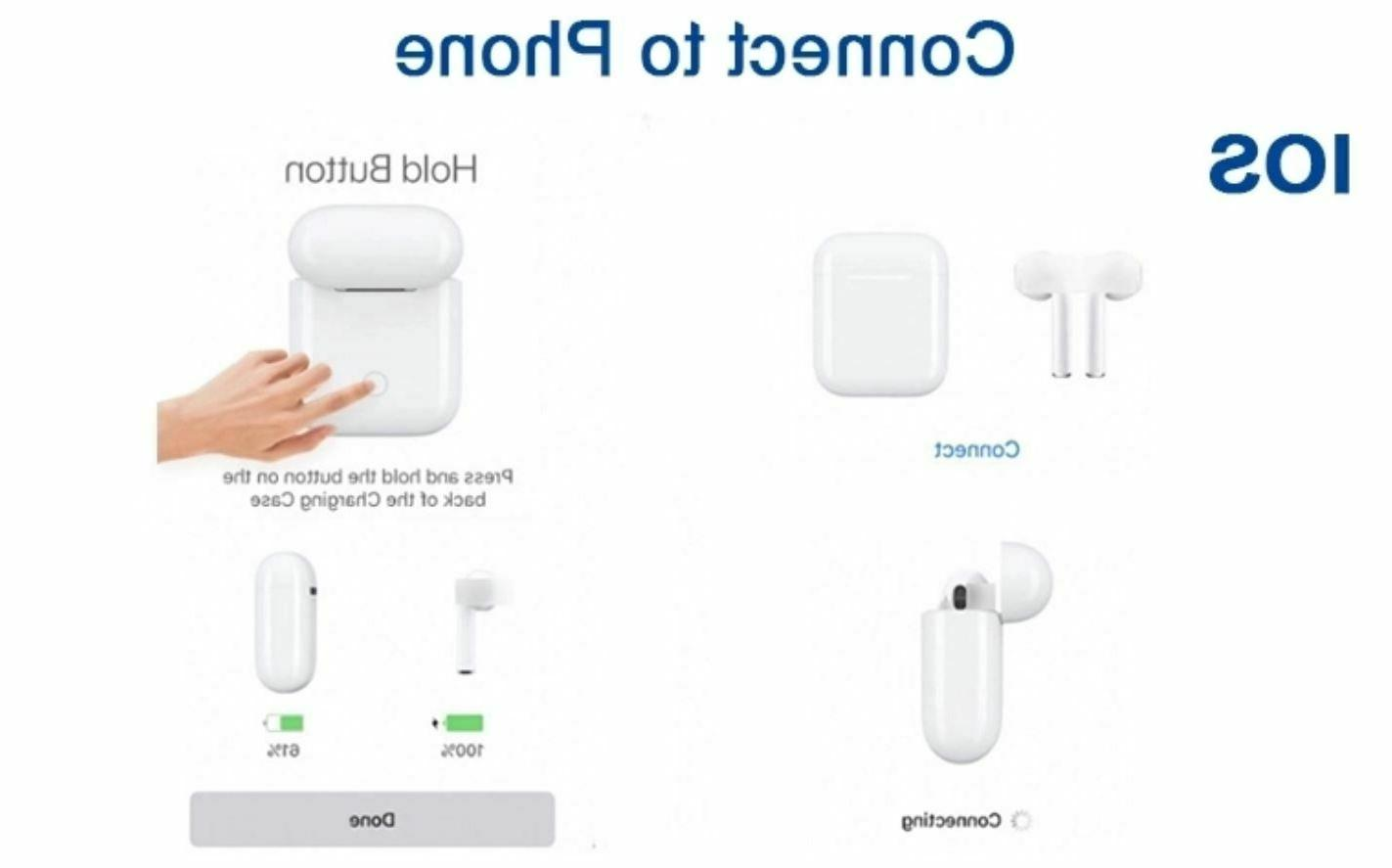 Wireless Compatible With Apple AirPods