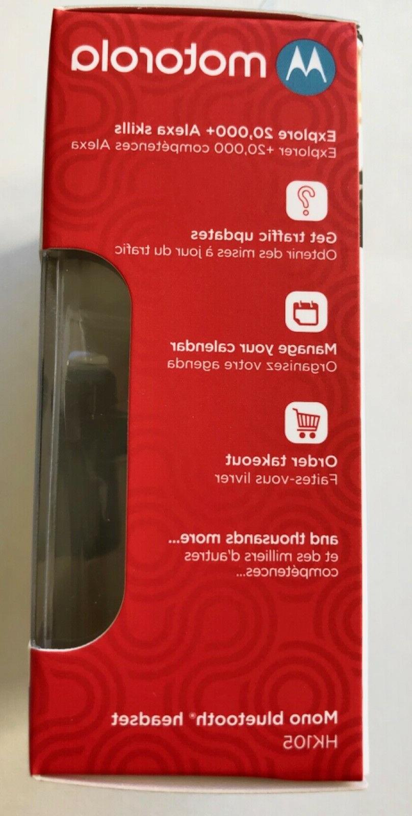 NEW Motorola Bluetooth headset Streaming Alexa, Siri,