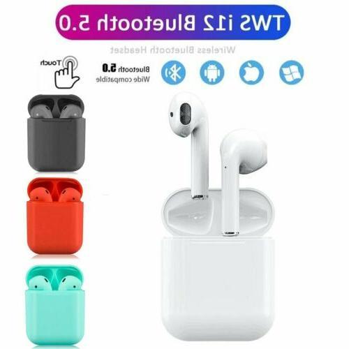 i12 bluetooth 5 0 headset wireless headphone