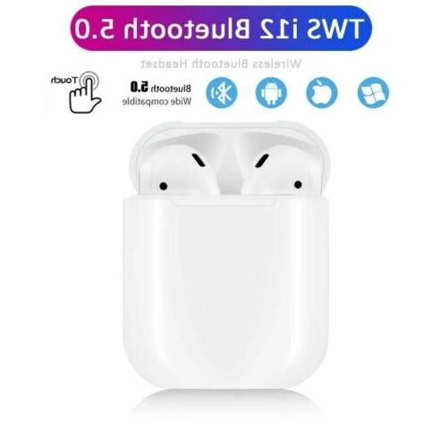New i12 TWS Bluetooth 5.0 Headphone Touch Mic