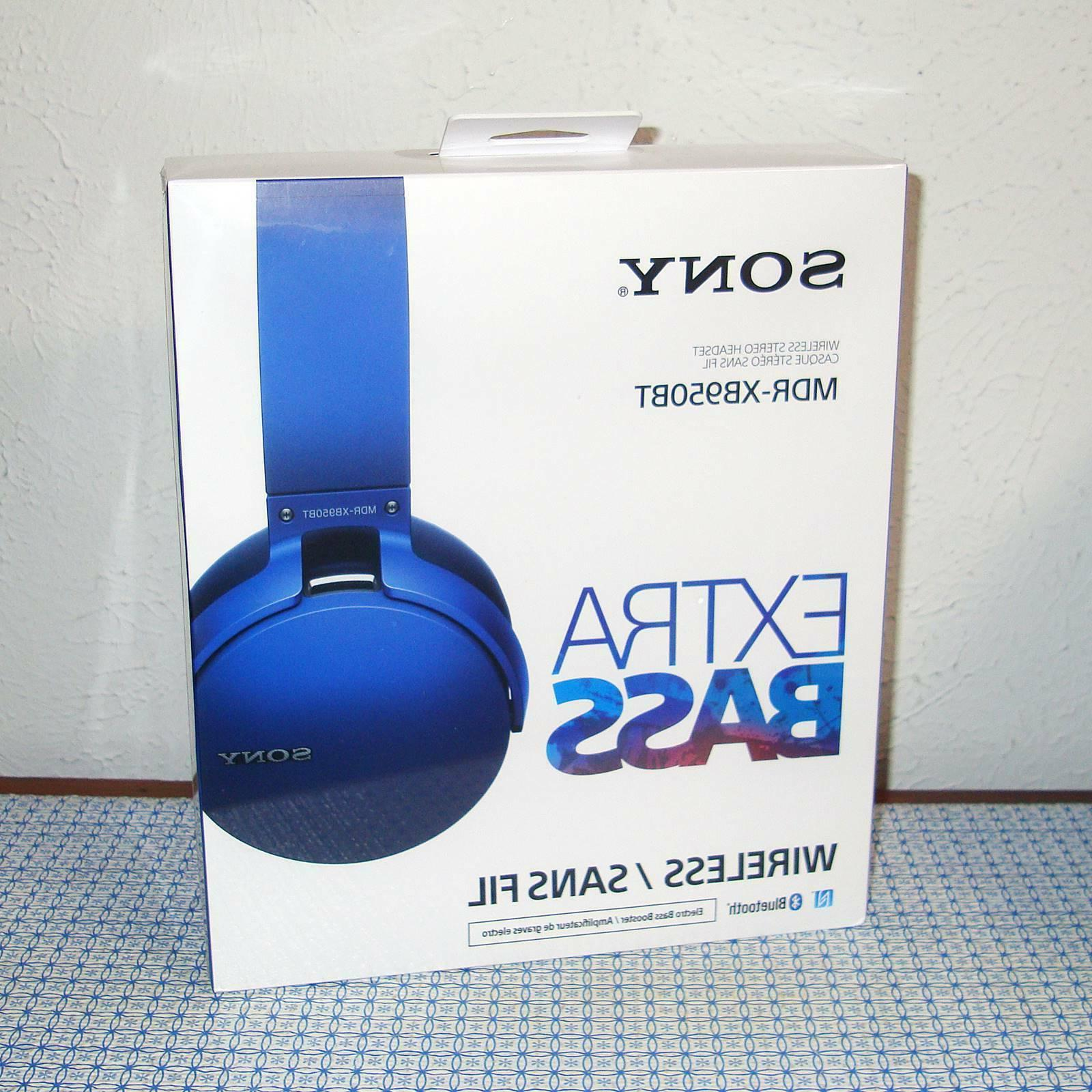 new mdrxb950bt b extra bass bluetooth headphones
