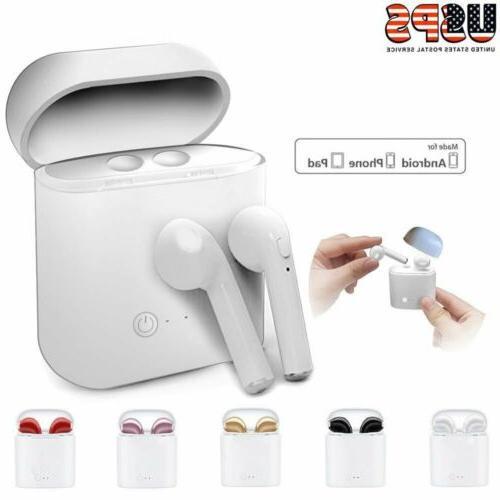 bluetooth wireless headset i7s tws earbuds w
