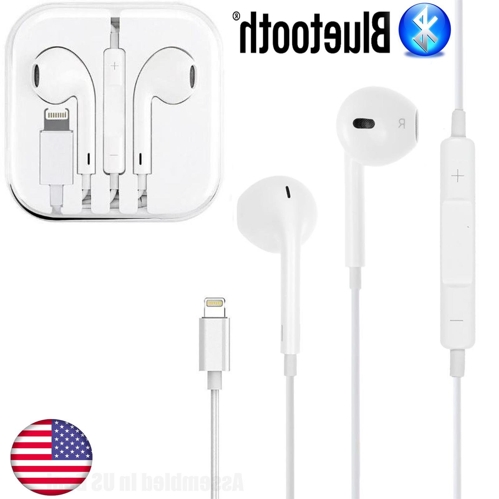OEM Quality Headphones Bluetooth Earbuds Headsets iPhone 6 7 X PLUS