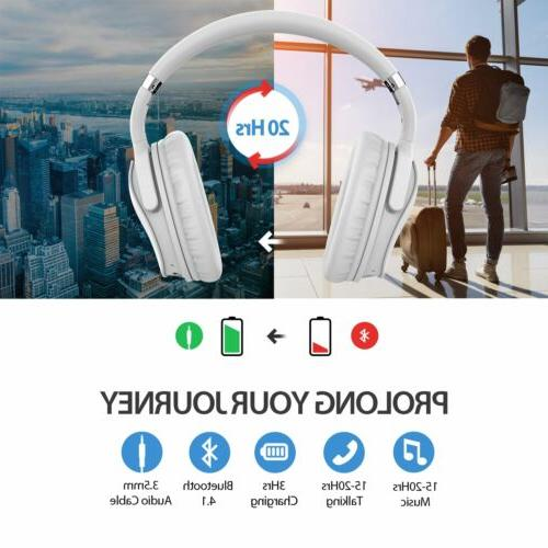 Mpow Over Bluetooth Headphones Headset Noise Cancelling