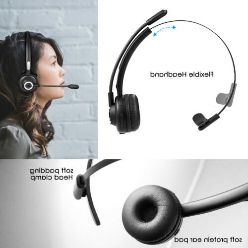 Noise Canceling Telephone Operator HandsFree Headset with Bo