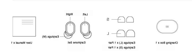 Xiaomi AirDots Earbuds + Box