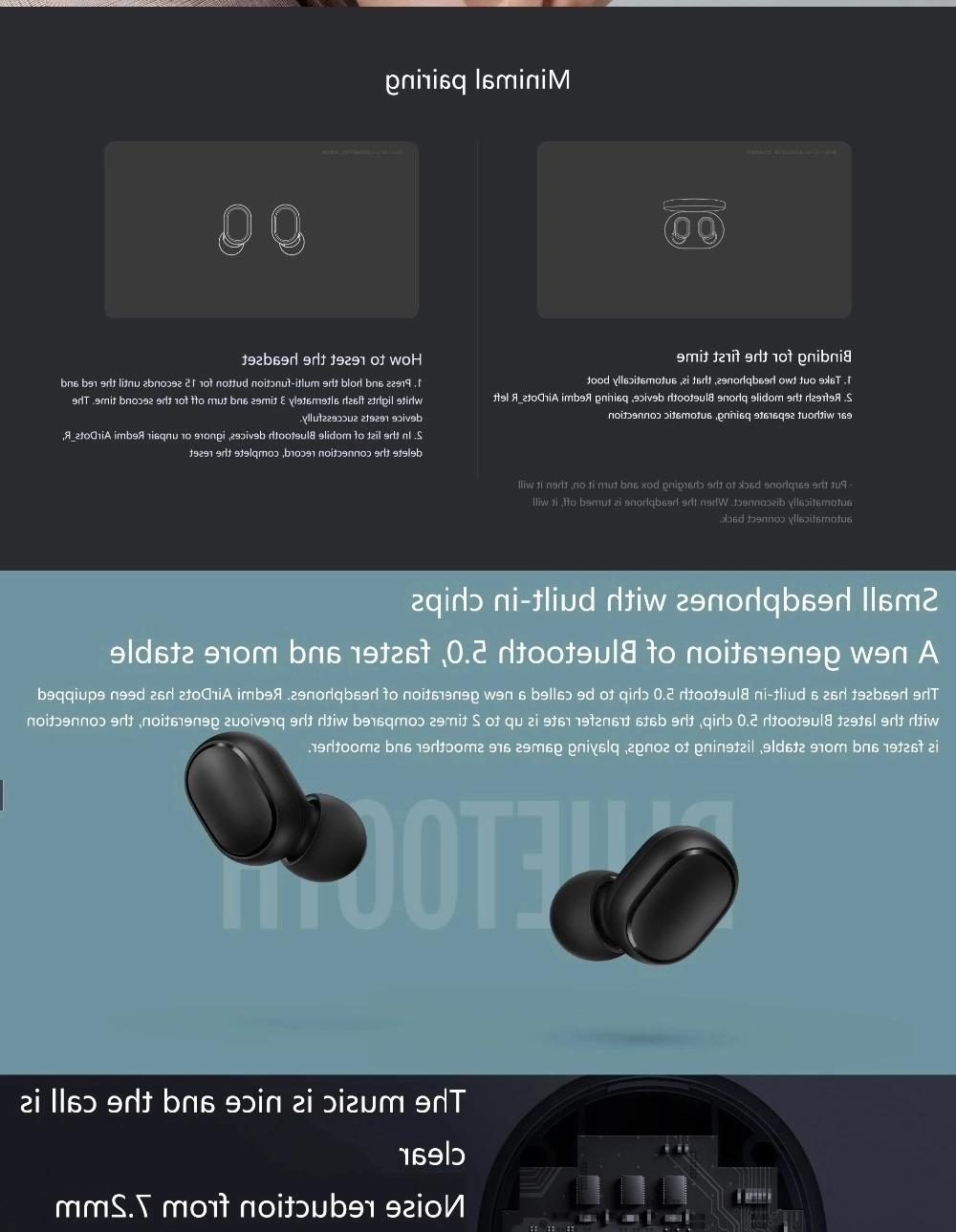 Xiaomi V5.0 Earbuds Headsets