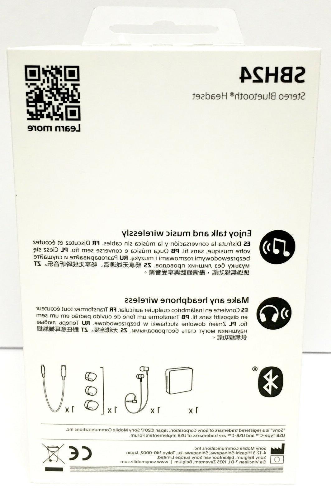 Sony SBH24 Bluetooth Earphone USB Type BLACK