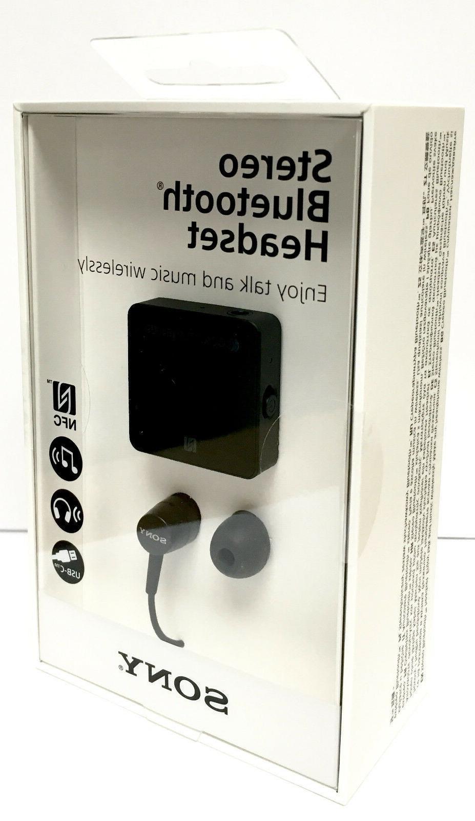 Sony SBH24 Bluetooth Stereo Music Earphone USB Type C BLACK
