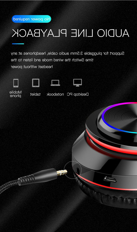 Super Bass Headphones Foldable Headsets