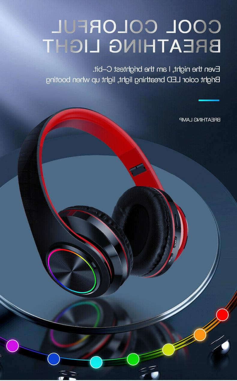 Super Wireless Headphones Foldable Stereo Headsets