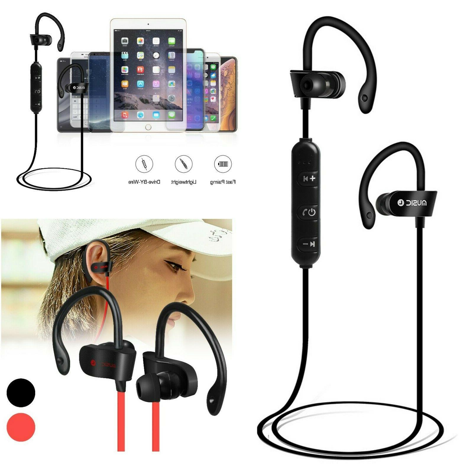 sweatproof sport bluetooth headset wireless headphones in