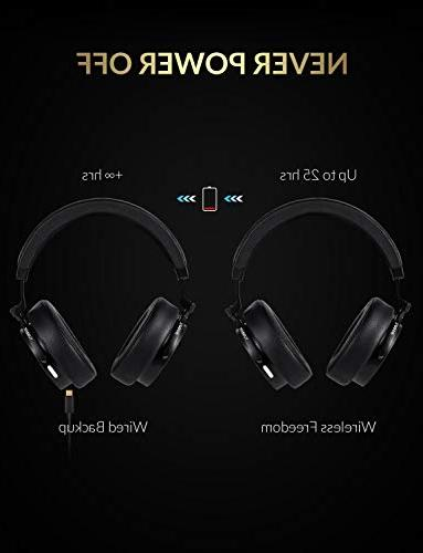 Bluedio T5 Active Noise Cancelling Wireless Bluetooth Headphones with Mic Stereo for Cell Work