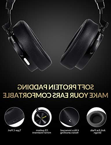 Cancelling Ear Wireless Headphones with Mic Stereo Headsets for Cell Phones Work