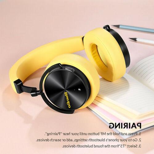 Bluedio Active Nosing Bass Mic Headsets