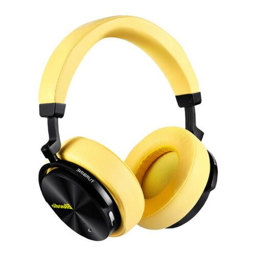 t5 bluetooth headphone active nosing cancelling yellow