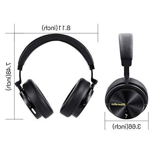 Bluedio T5S Bluetooth Over Active 57mm Headsets for Work PC Cellphone, 25 Hours Playtime