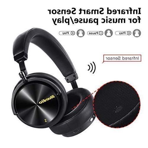 Bluedio Over Ear with Active Noise 57mm Drivers Wireless Headsets for Work PC Cellphone, 25