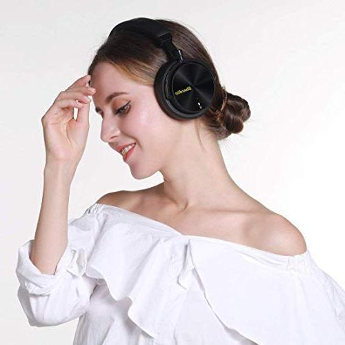 Bluedio T5S Bluetooth Headphones Over with Active 57mm Wireless for Work TV PC Cellphone, 25 Playtime