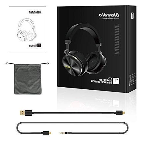Bluedio Bluetooth Headphones Over with Active 57mm Drivers Headsets for Travel Work TV PC Cellphone, 25 Hours Playtime