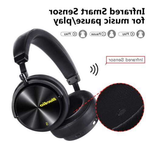 Bluedio T5S Headphones Wireless Headsets Mic
