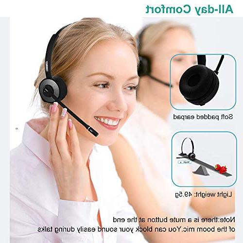 Trucker Headset with Station,Noise Cancelling Phone Headset for Truck Driver Call Office Android