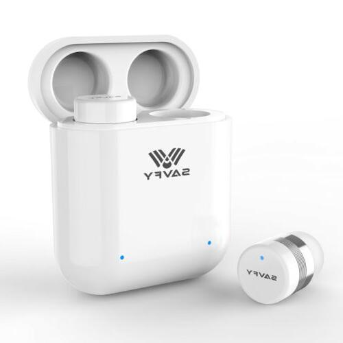 SAVFY True Bluetooth Headsets Stereo In-Ear Earbuds