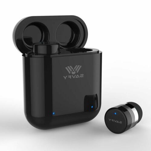 SAVFY True Bluetooth Earphones Stereo In-Ear