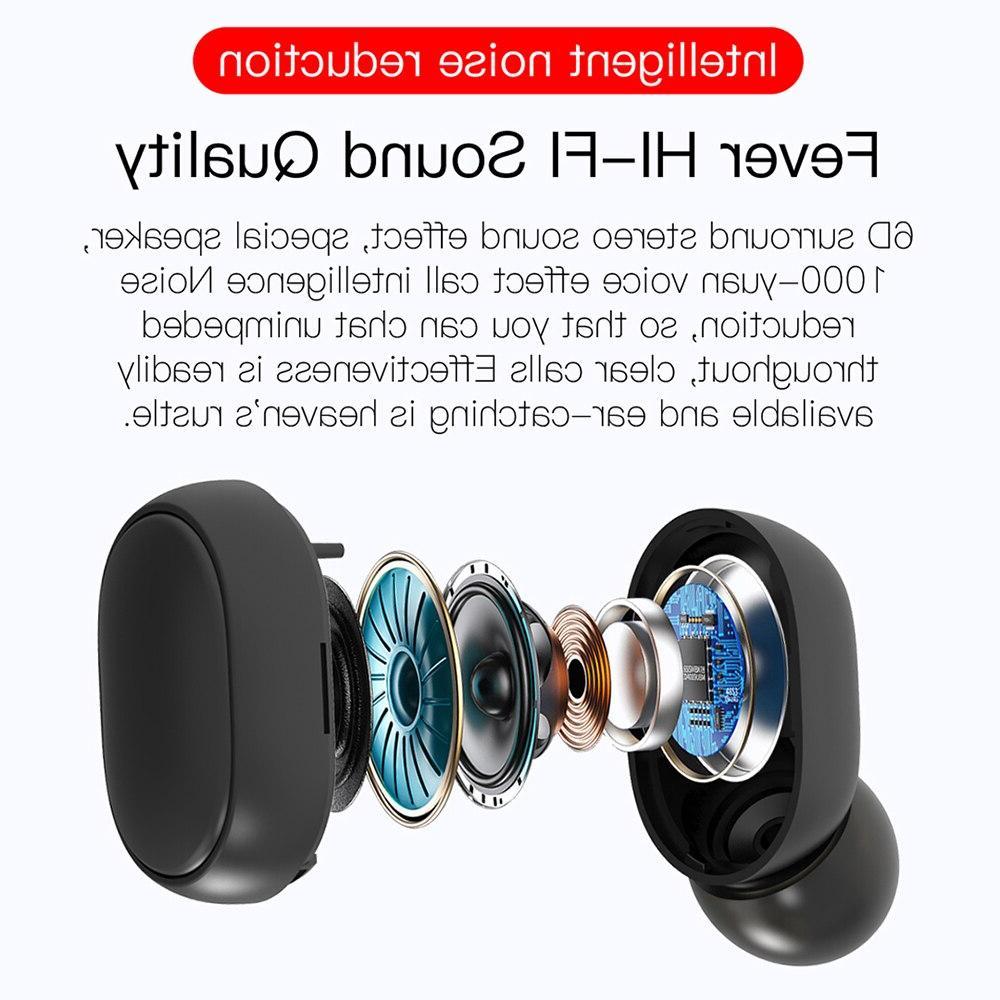 TWS Wireless Earphone Redmi Earbuds <font><b>Bluetooth</b></font> Mic Samsung A6S Earbuds