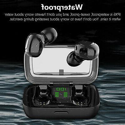 Waterproof Wireless Bluetooth Headphones Headsets Stereo Earbuds