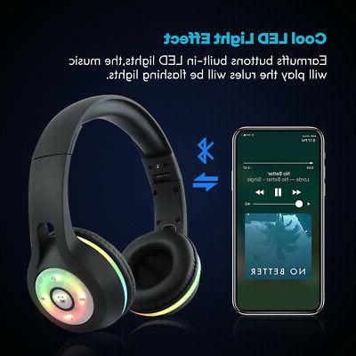 Bluetooth Stereo Headsets Light UP Xmas