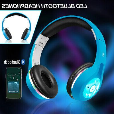 Bluetooth Headphones Earbuds Stereo Light Xmas