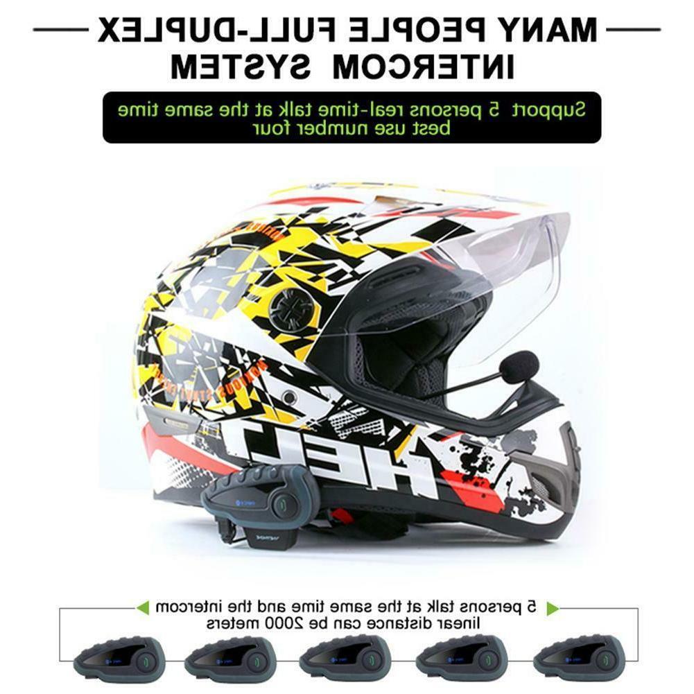 V8 Headset Riders BT Intercom FM Radio