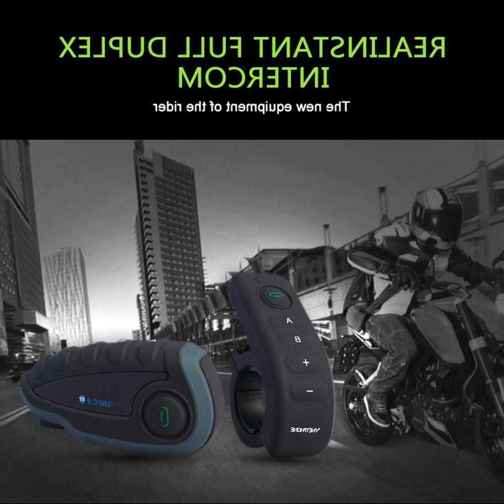 V8 Motorcycle Headset Riders Intercom NFC