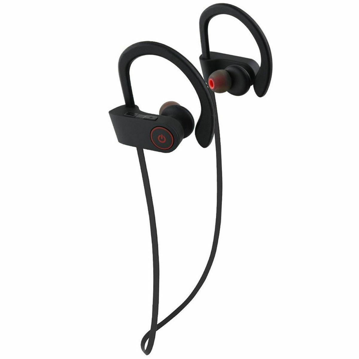 waterproof bluetooth earbuds stereo sports wireless headphon