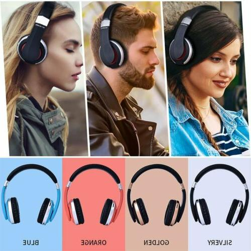 Wireless Headphones Foldable Headset Stereo Bass Earphones