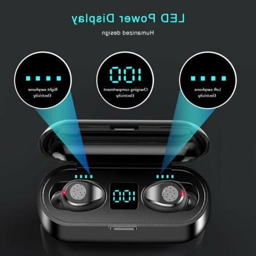 Bluetooth 5.0 Earbuds TWS Wireless Earpiece Sports Headset H