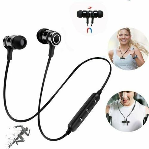 Wireless Gym Earphones Headset MIC Bass