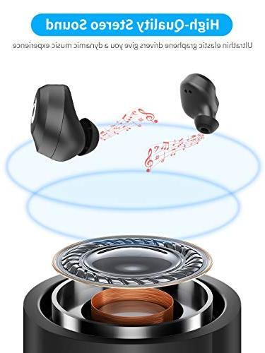 Bluetooth Bluetooth Headset Earphones IPX7 Bluetooth Stereo Hi-Fi Sound 2200mAH Case