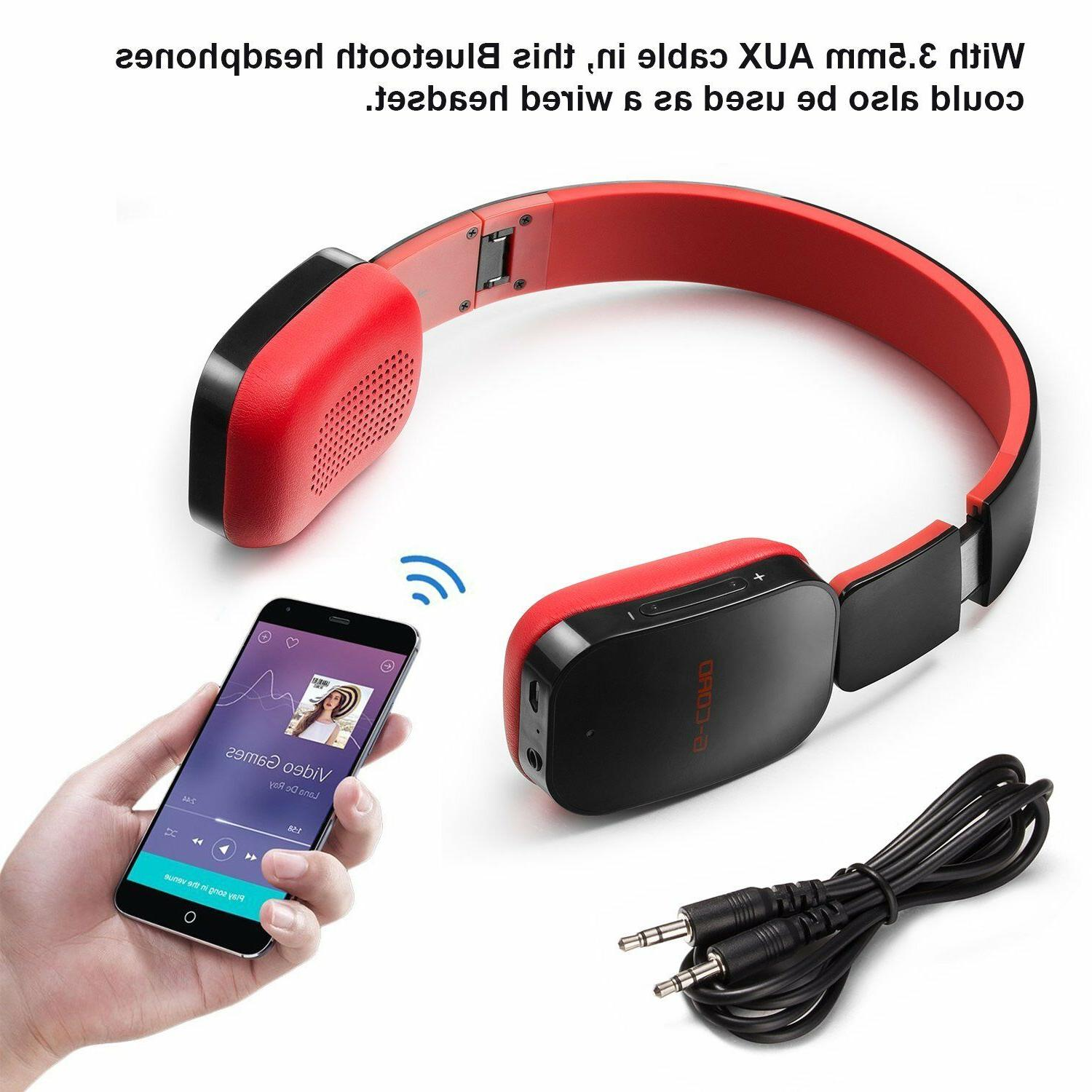 Wireless Headphones Stereo 3.5 Aux-in