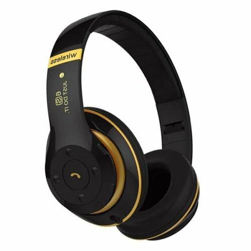 wireless bluetooth headphones foldable stereo earphones supe