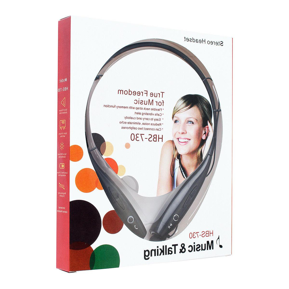 Wireless Earphone Neckband Earbuds Mic USA