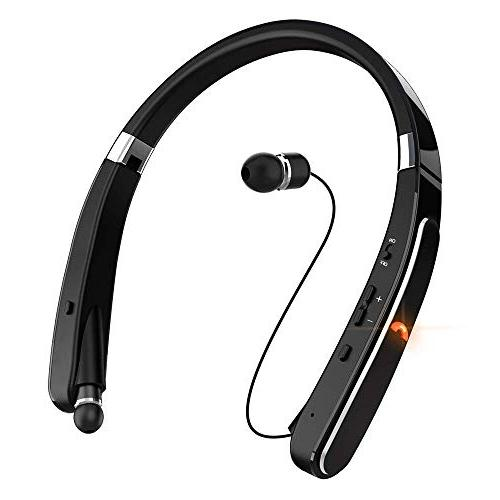 Wireless Bluetooth Headset, EGRD Foldable Retractable Neckband