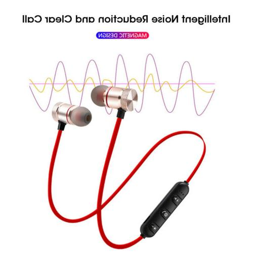 Wireless Bluetooth Sport Gym Headphones Earphones Earbuds with MIC Bass