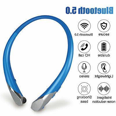 wireless bluetooth sport headset neckband mic stereo