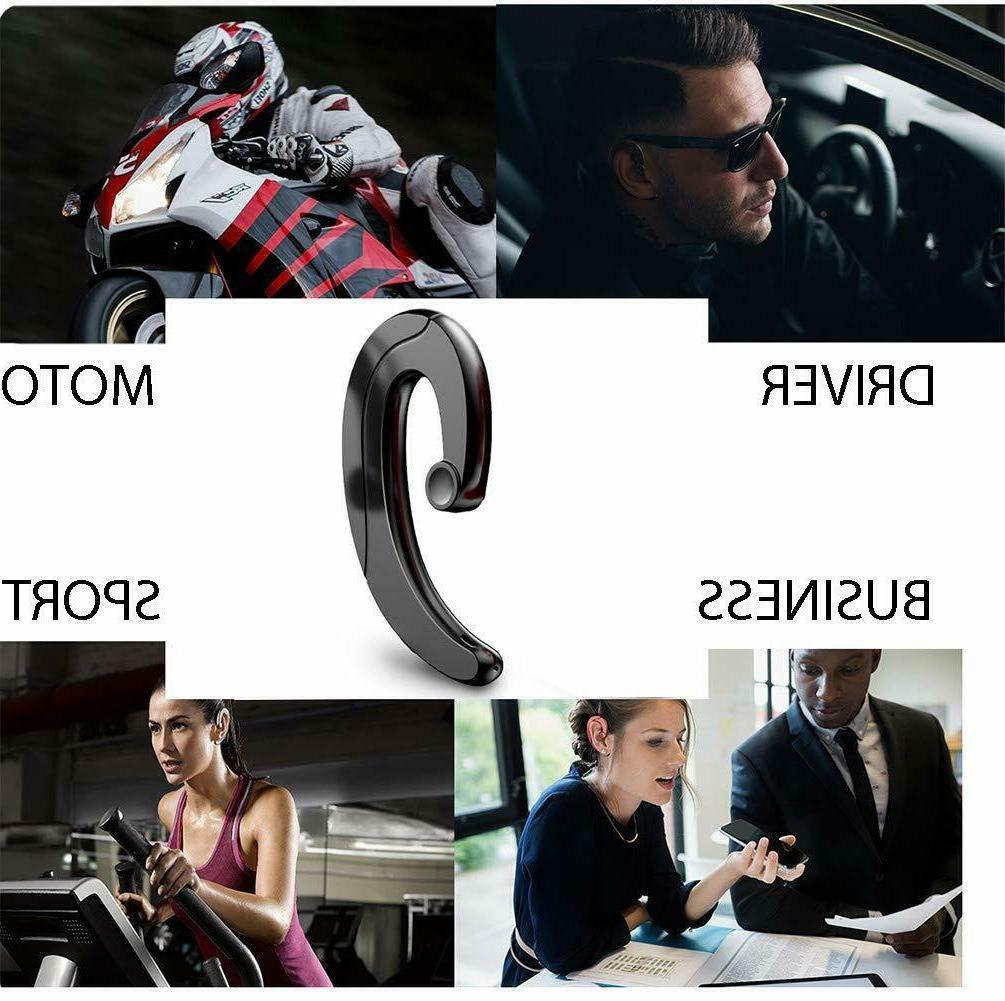 Wireless Headset Earbud Mic bone conduction