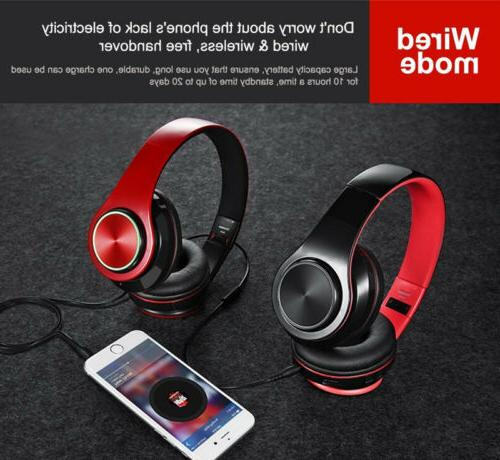 Wireless Bass Bluetooth Foldable Headsets